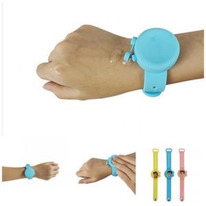 Desinfectante pulseras pulsera de silicona reloj creativo de la mano portátil de grado alimenticio para los niños mezcla de la colada libre de la manera Colores 15ak F2