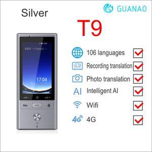 "Freeshipping W1 AI simultânea Voice Translator 4G Multi-language Portable Network Inteligente Voice Translator 2.8"" Touch Screen 8G de memória"
