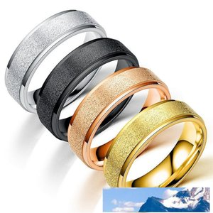 6mm Frosted Rings Stainless Steel Dull Polish Ring Silver Gold Rainbow Rings Band Ring Women Men Jewelry will and sandy Drop Ship
