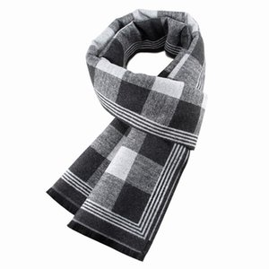 Fashion Men's Scarf Autumn Winter Multi-purpose Neckerchief Check Decorative Adult Business Scarves Plaid Warm Lattice Commercial