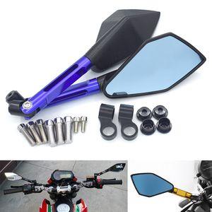 KAWASAKI HONDA SUZUKI YAMAHA DUCATI KTM için yeni bir Çifti Moto Motosiklet Motosiklet Dikiz Yan Aynalar Seti CNC Alüminyum