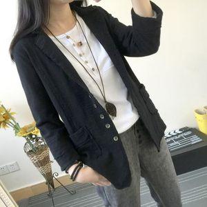 Natural Color Lapel Neck Casual Suits Fashion Korea Style Womens Suit Womens Designer Free Size Suits