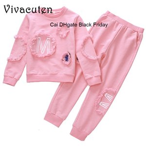 New Children Girls Autumn Clothing Set Fashion Long-sleeve Shirts Pants 2Pcs Tracksuits Girls Casual O-Neck Pullover Outwears