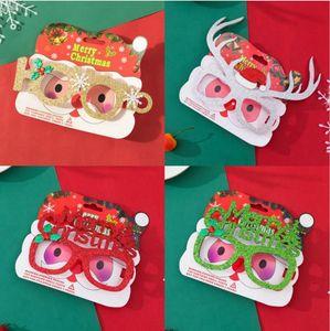 Joyeux Noël Lunettes Halloween adulte enfants Costume de Noël Lunettes Cadre Père Noël Bonhomme de neige de Noël Photographie Props DDA327