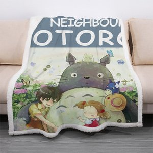 Harita Custom Saç bir Nesil için Sonbahar ve Kış Kalın Kare Battaniye Totoro Serisi Çocuk Yetişkin Nap Battaniye