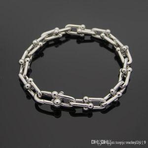 Hot Rose Glod OT Buckle Charm Bracelets for Women and Men Fine Jewelry Top Quality Titanium Steel Silver Bangle Bracelet Pulseiras
