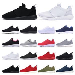 Nike roshe  Correr sapatos para homens mulheres de baixa preto Leve respirável London Olympic Sports Sneaker instrutor tamanho 36-45