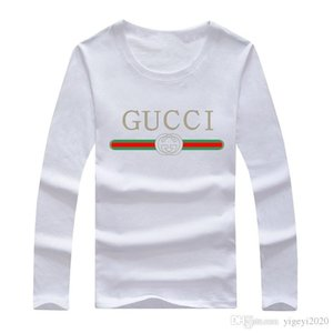 Мужчины известный бренд дизайнер майка 6 цвета Весна Осень с длинным рукавом Тонкий футболки мужчин Твердая полиэстер Тройники рубашку O-образным вырезом белый футболка