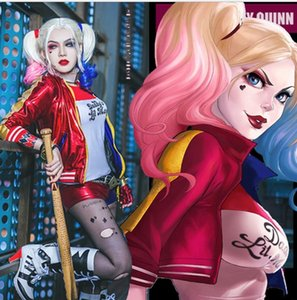 07ZqA pequeno esquadrão suicida fase cosplaycostume roupa de palhaço feminino esquadrão suicida Harley Quinn Team New outfit