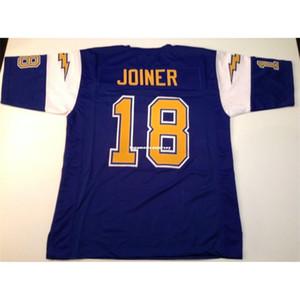 Cheap Retro Throwback personalizzato cucito cucito # 18 Charlie Joiner blu MITCHELL NESS Top in jersey S-5XL, pullover di football 6XL Uomo