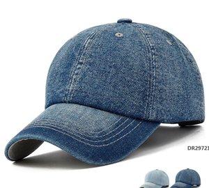 Útiles gorra de béisbol Hombres Mujeres Golf sombreros para mujeres visera Bone Jeans Denim en blanco Gorras Gorra llano Cap DR27721