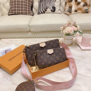 Vente 3 pièces scénographes sacs femmes sac à bandoulière en cuir véritable sacs à main de luxe dame sac fourre-tout designers sacs à main Porte-Monnaie trois article B12