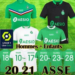19 20 maillot AS Saint Etienne Fußballtrikots 2019 2020 maillot ASSE Etienne KHAZRI CABELLA BERIC NORDIN HAMOUMA Ausrüstung für Fußballtrikots