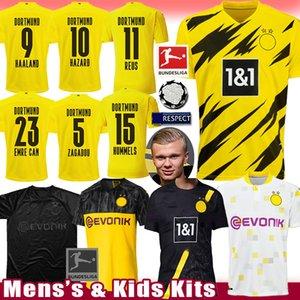 corredi delle uniformi REYNA bambini Hakimi BVB Borussia Dortmund HAALAND maglia da calcio REUS PERICOLO Football Shirt M.GOTZE maillot de foot SANCHO Uomo