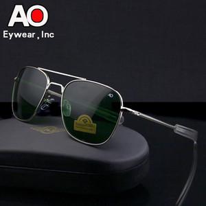 Aviation Lunettes de soleil hommes 2018 lunettes de conduite pilotes lunettes optiques américaines Armée AO Lunettes de soleil