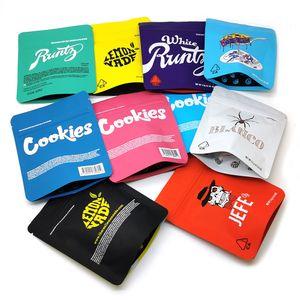 Cookies les plus récents Sacs d'emballage Sacs 3,5 Grams Herb sec sans odeurs Childproof Californie Cheetah Piss Gelatti Gary Payton Pound Cake