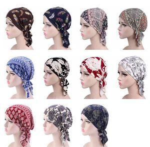 Bandana Cap Turban Impressão Triângulo Elastic pirata Lenço Floral Headband Headwear Quimioterapia Bandana Hat Cabelo Accessorieers IIA425