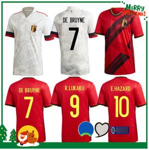 2020 Bélgica hogar lejos Lukaku PELIGRO KOMPANY De Bruyne MERTENS camiseta de fútbol 2021 Hombre adulto y los niños camiseta de fútbol kit deportivo