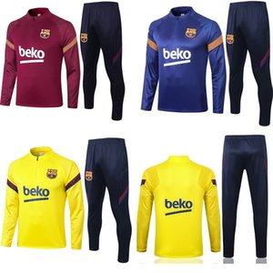 سترة برشلونة مقنع سترة واقية Survetement 20 21 رجل سترة لكرة القدم المتحدة برشلونة لكرة القدم رياضية تدريب معطف ملابس رياضية