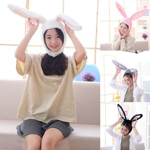 Funny Plush Ears Hood Hat Eastern Cosplay Costume Headwear Props E15E
