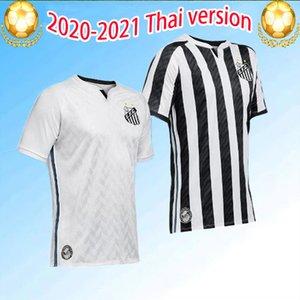 2020 2021 Santos FC Fussball Jersey Top Qualität 19 20 21 Santos Home Gabriel Rorrygo Dodo Renato Sasha Football Jerseys Uniformen Hemden S-3XL