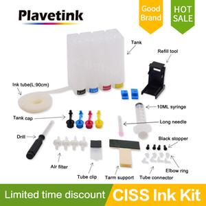 Plavetink Ciss For Canon Continuous Ink Printer For Ciss Bulk Diy Tank Continuous System 4 Color Cartridge and Ink Tube Drill
