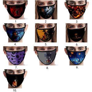 nach Maß Halloween Weihnachtsdekoration erwachsenen Kinder Gesichtsmasken mascherina Designer Gesichtsmaske Baumwolle Maske wiederverwendbar facemask masque