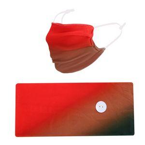 New Creativity Gradient Color Hair Band Mask Set Button Cordello antipolvere anti-nebbia Traspirante Antiperspirante Maschere di moda Donne GWe1845