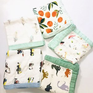 Four Layer Gauze Bamboo Cotton Baby Muslin Blanket Muslin Tree Swaddle Soft Baby Bamboo Blanket Infant Wrap