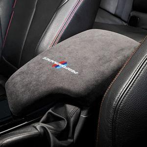 Alcantara Wrap автомобилей подлокотника Box панель ABS крышка M Performance наклейка Таблички для BMW F30 3-й серии 2013-2019 Аксессуары для интерьера