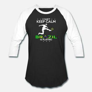 I Can not Keep Calm Brasil Jogando 2018 Futebol Nacional T camisa t homens Projetando 100% algodão gola redonda camisa confortável Original Famoso