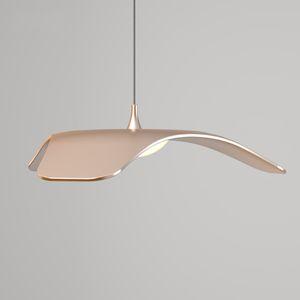 Modern LED dining room living room aluminum pendant lights luminaire lustres led pendant fixture lamp 10W red   gold   Silver