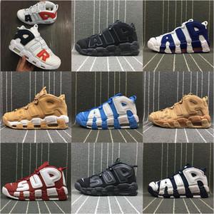 Clássico Pippen ar Mais Uptempo Crianças basquete sapatos ao ar livre sapatos Mens sapatos 3M Scottie Pippen Uptempos sapatos ao ar livre Athletic