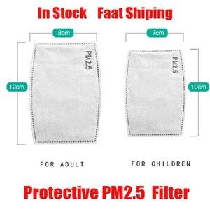 US-Aktien !! 100Pcs Luftreinigungsmaske Filtermatte PM2.5 Filtered Aktivkohle Einweg-Maske-Auflage DHL schnelles Verschiffen
