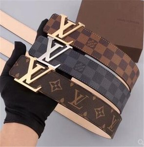 Роскошные Ремни дизайнерские ремни для мужчин Большой пряжки ремня Мужской пояса целомудрия Топ Mens Мода кожаный пояс 12LVLOUISVUITTON