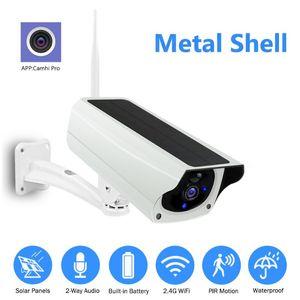 WIFI Wireless Solar камера 1080P металлический корпус Открытый видеонаблюдения CCTV 2MP HD IP-камера Батарея Camhi Pro APP