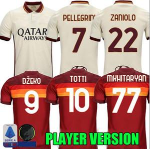 Player versão 20 21 ROMA Futebol MANCINI Zaniolo Perotti 2020 2021 roma Maglie maillot de pé KUMBULLA PEDRO DZEKO camisas de futebol