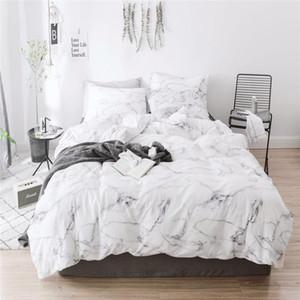 40 nordic Marbled duvet cover set 100% cotton comforter bedding set bed cover Bedclothes Quilt Pillow case Textile