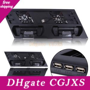 Vodool Dual USB aficionados de carga del muelle del soporte vertical horquilla del sostenedor Para PS4 Pro consola de juegos ventilador refrigerador