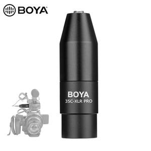 BOYA 35C-XLR 3,5 milímetros (TRS) Mini-Jack Feminino microfone Adaptador de 3 pinos XLR Male Connector for Sony Filmadoras Gravadores Misturadores