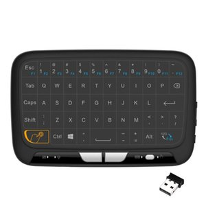 2.4GHz Mini Backlight Wireless Keyboard H18+ USB Full Touchpad Screen Air Mouse Business Office Keyboard