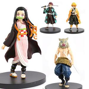 Anime Figure Oyuncak Demon Slayer Kimetsu Hiçbir Yaiba Aksiyon Figürleri Tanjirou Nezuko Inosuke PVC Koleksiyon Model Boys Oyuncaklar Hediyeler