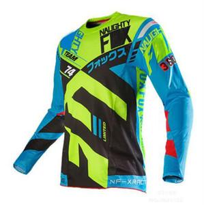 FOX rendición velocidad verano de manga larga Jersey de ciclo, de secado rápido camiseta de la parte superior, motocicleta conducir un todoterreno uniforme de los hombres, poliéster Quick-