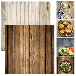 ALLOYSEED 60x60cm ريترو الخشب مجلس نسيج التصوير خلفية خلفية للاستوديو الصور الفيديو خلفيات التصوير الدعائم