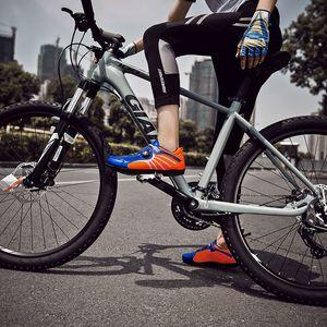 New Pro Summer Mesh respirant Velcro Passoire de cyclisme sur route Chaussures Outdoor Ultrlight Bicycling Chaussures Hommes Route Femmes Chaussures de sport vélo