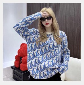 2020 maniche lunghe Le nuove donne di estate di lavoro a maglia delle donne di moda di Felpe con cappuccio stile semplice Maglioni magliette allentate il trasporto libero