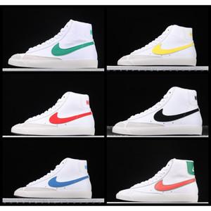 2020 Nike SB blazer Mid 77 Обувь Lucid Зеленый парус белый Чикаго и Торонто Холст Pacific Blue Habanero Красные туфли Размер 36-45