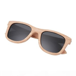 2018 Fashion Wood Sunglasses Men Women Wooden Sunglass Bamboo Eyewear Wood Glasses Polarized sunglasses UV400 Protec beach sunglasses