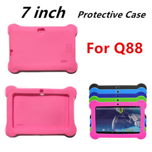 Protective Shockproof Case Cover For Q88 Thicker Corner Scratch Prevention Flexible Silicone Round Conner Portable Cases 100pcs