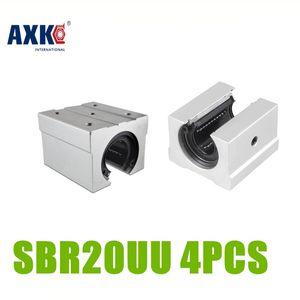 AXK 4 шт / много SBR20UU Линейный подшипник 20мм Open Линейный подшипник скольжения блок, бесплатная доставка 20мм Фрезерно слайд SBR20UU